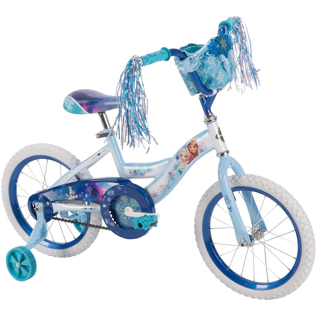 Disney's Frozen Anna & Elsa Youth 16-Inch Bike with Handlebar Bag by Huffy