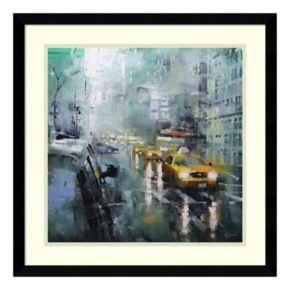 Amanti Art New York Rain Framed Wall Art