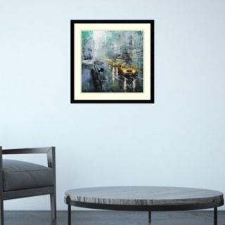 Amanti Art New York Rain Framed Wall Art