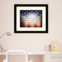 Amanti Art 'No Greater Love' American Flag Framed Wall Art