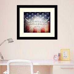 Amanti Art 'No Greater Love' American Flag Framed Wall Art