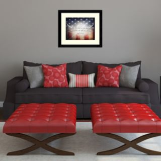 "Amanti Art ""No Greater Love"" American Flag Framed Wall Art"