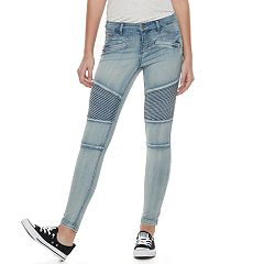 Juniors' Tinseltown Moto Skinny Jeggings