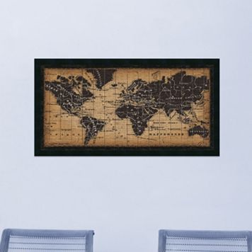 Amanti Art Traditional Old World Map Framed Wall Art