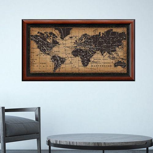 Amanti Art Old World Map Framed Wall Art