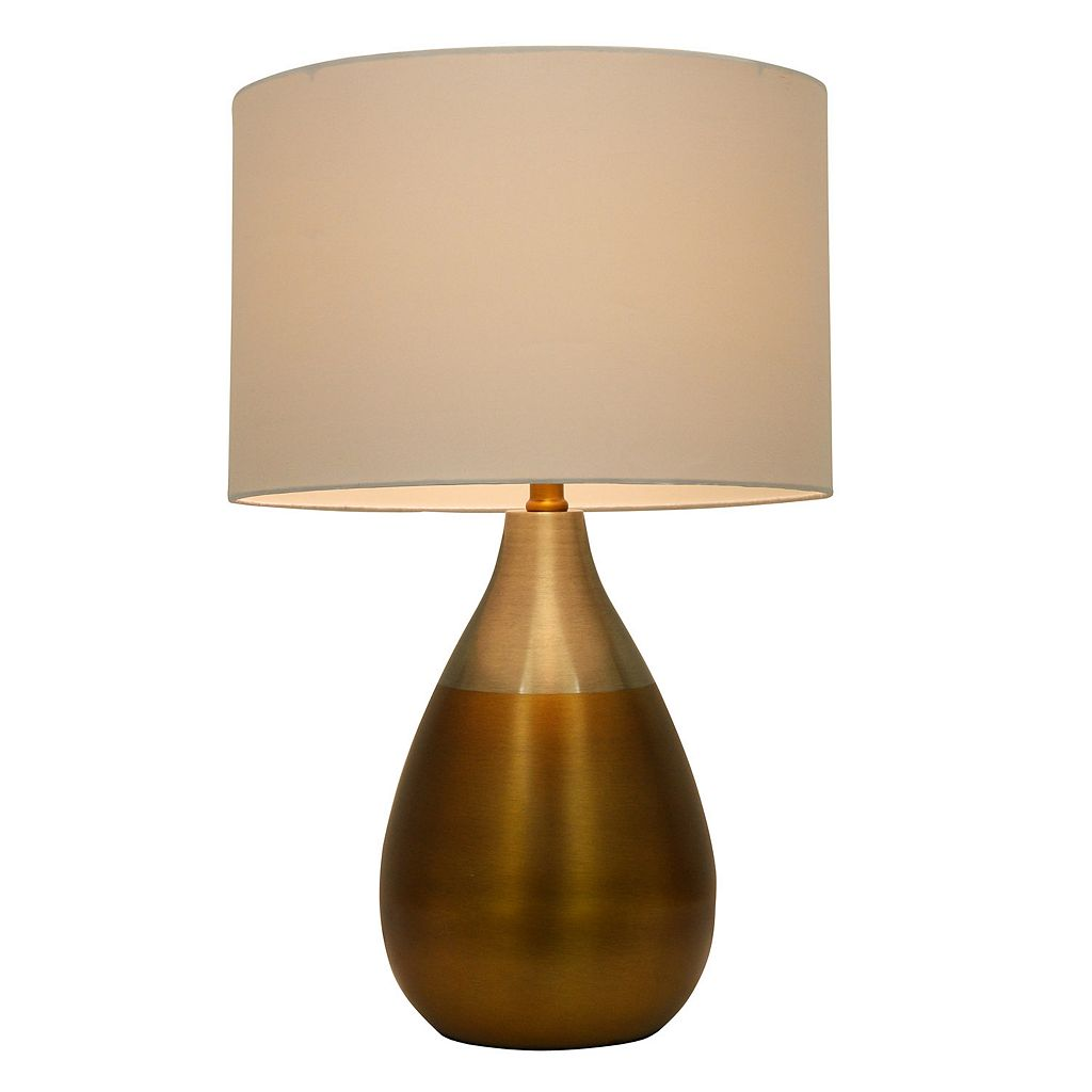 Decor Therapy Brass Finish Table Lamp