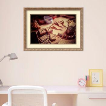 Amanti Art Old World Sewing Framed Wall Art