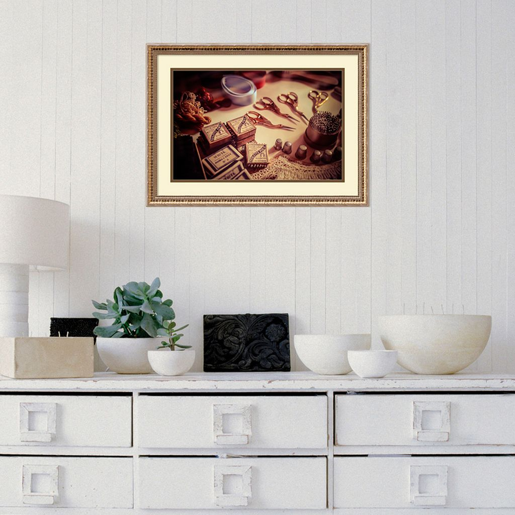 Amanti Art Old World Sewing Framed Wall Art