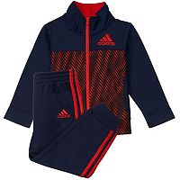Boys 4-7x adidas Abstract Tricot Jacket & Pants Set