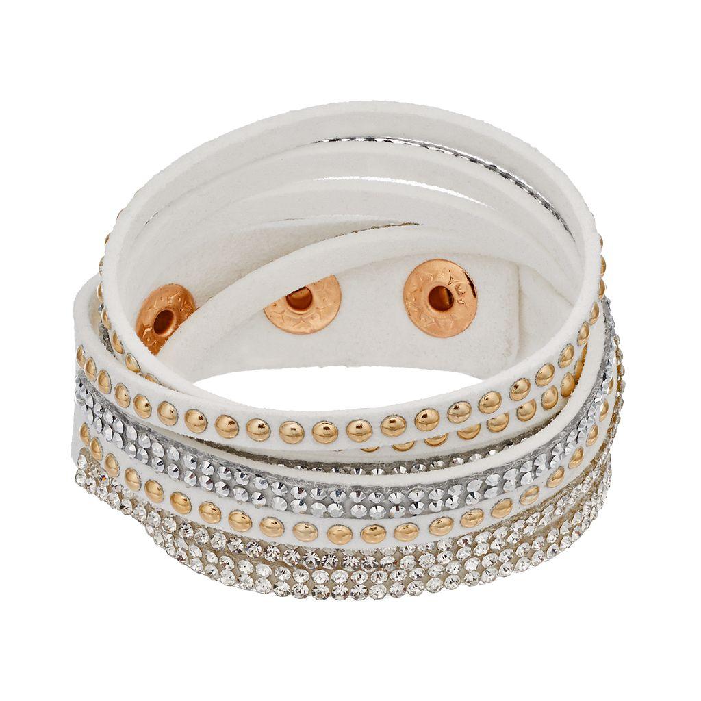 Mudd® White Studded Multi Strand Cord Bracelet