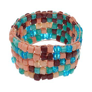 Mudd® Mosaic Glass Bead Stretch Bracelet