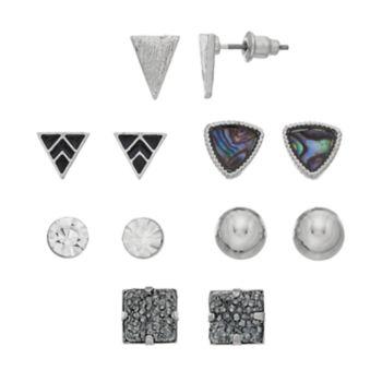 Mudd® Nickel Free Geometric Stud Earring Set