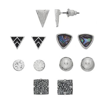 Mudd® Nickel Free Geometric Stud Earring Set