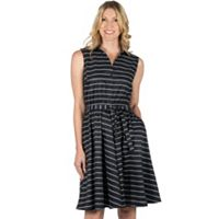 Women's Larry Levine Fit & Flare Stripe Dress