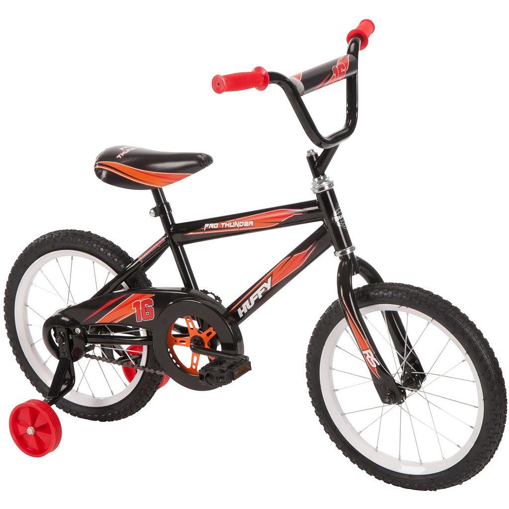 Youth Huffy 16-Inch Pro Thunder Bike with Training Wheels