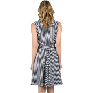 Women's Larry Levine Fit & Flare Gingham Dress