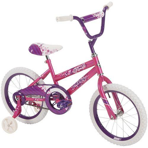 Youth Huffy 16-Inch So Sweet Bike with Training Wheels