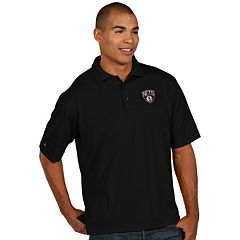 Men's Antigua Brooklyn Nets Pique Xtra-Lite Polo