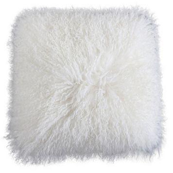 Nikki Chu Fuzzy Throw Pillow