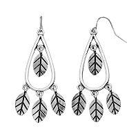 Mudd® Shaky Leaf Nickel Free Teardrop Earrings