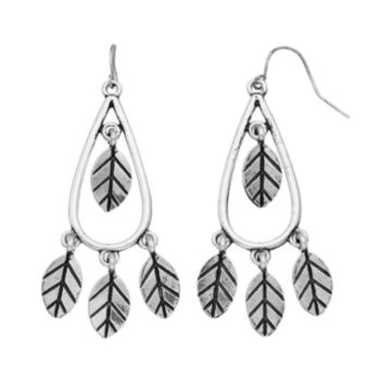 Mudd® Shaky Leaf Nickel Free Teardrop Earrings