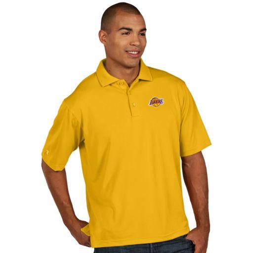 Men's Antigua Los Angeles Lakers Pique Xtra-Lite Polo