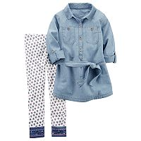 Girls 4-8 Carter's Chambray Tunic & Leggings Set