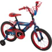 Youth Huffy Marvel Spider-Man 16-Inch Bike with WebTrap Handlebar Plaque and Training Wheels