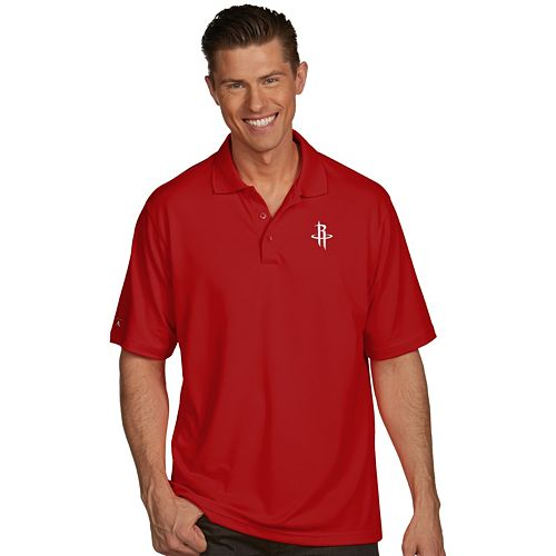 Men's Antigua Houston Rockets Pique Xtra-Lite Polo