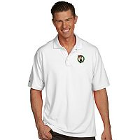 Men's Antigua Boston Celtics Pique Xtra-Lite Polo