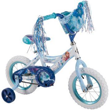 Disney's Frozen Anna & Elsa Youth 12-Inch Bike with Handlebar Bag by Huffy