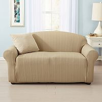 Home Fashion Designs Luxurious Cable-Knit Stretch Loveseat Slipcover