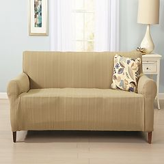 Home Fashion Designs Luxurious Cable-Knit Stretch Sofa Slipcover