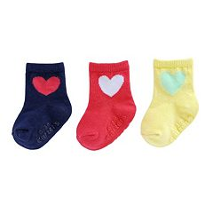 Baby Girl / Toddler Girl Carter's 3 pkPrinted Crew Socks