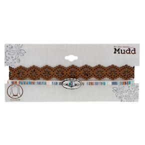 Mudd® Concho & Floral Cutout Choker Necklace Set