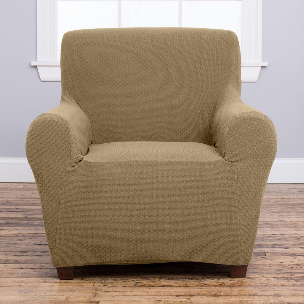 Home Fashion Designs Amilio Luxury Plush Form Fit Chair Slipcover