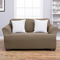 Home Fashion Designs Cambria Collection Luxury Plush Form Fit Loveseat Slipcover
