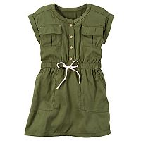 Girls 4-8 Carter's Olive Pocket Dress