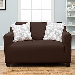 Home Fashion Designs Dawson Twill Form Fit Loveseat Slipcover