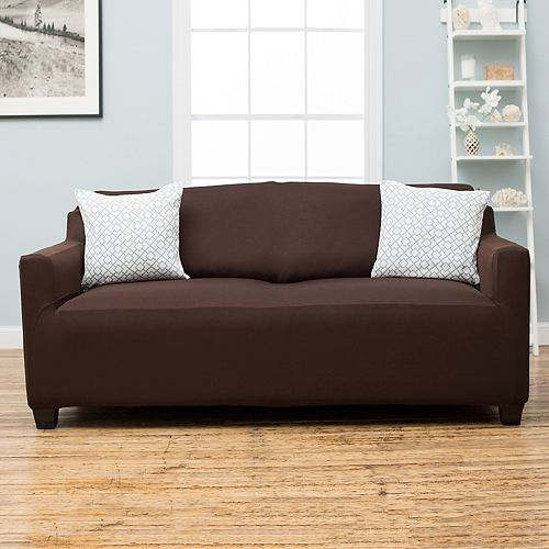 Home Fashion Designs Dawson Twill Form Fit Sofa Slipcover