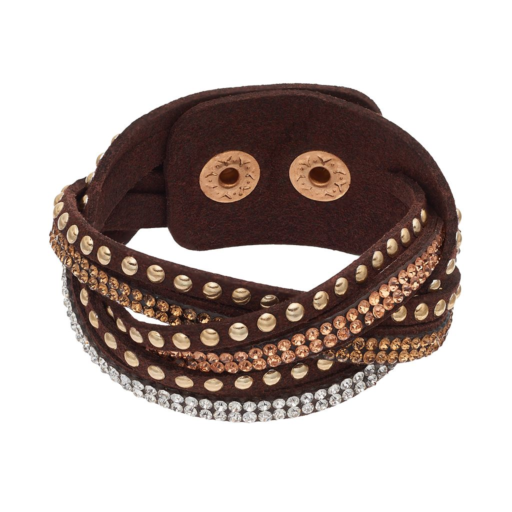 Mudd® Brown Studded Multi Strand Cord Bracelet