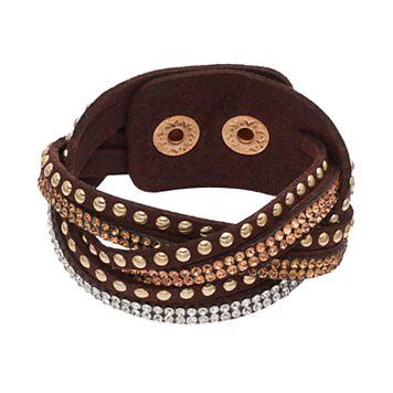 Mudd® Brown Studded Multi Strand Cord Bracelet
