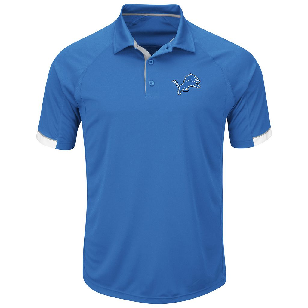 Men's Majestic Detroit Lions Last Second Win Polo
