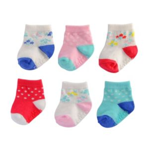 Baby Girl Carter's 6-pk. Pattern Crew Socks