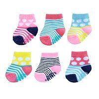 Baby Girl Carter's 6-pk. Pattern Crew Socks