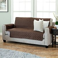 Home Fashion Designs Luxe Reversible Stain Resistant Sofa Slipcover