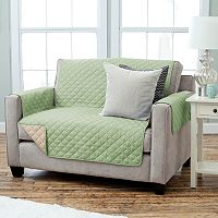 Home Fashion Designs Reversible Loveseat Slipcover