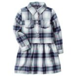 Girls 4-8 Carter's Plaid Drop-Waist Dress