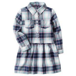 Girls 4-8 Carter's Plaid Drop-Waist Dress