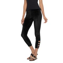 Utopia by HUE Railroad Velvet Skimmer Leggings